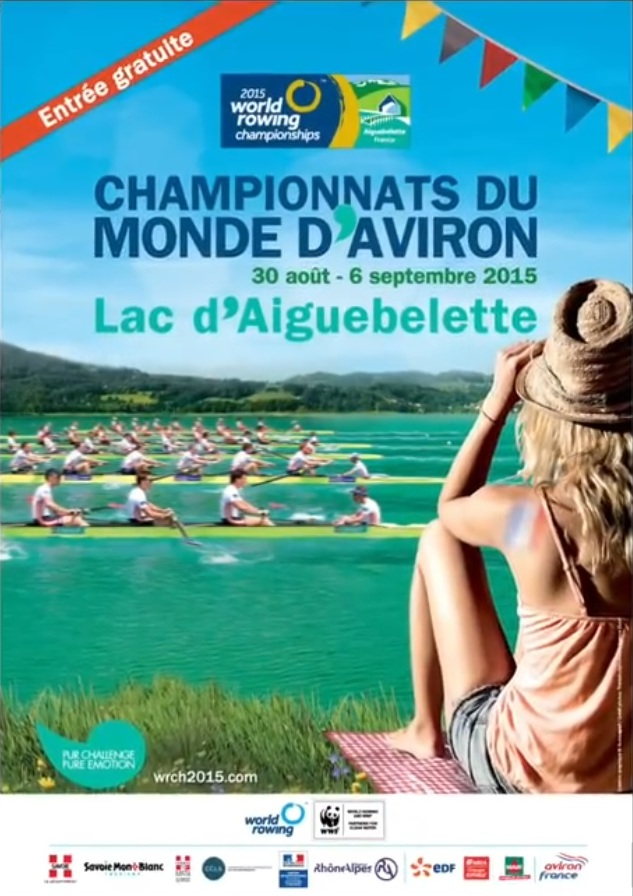 2015 World Rowing Championships,30 Aug - 6 Sep 2015 Aiguebelette, FRANCE